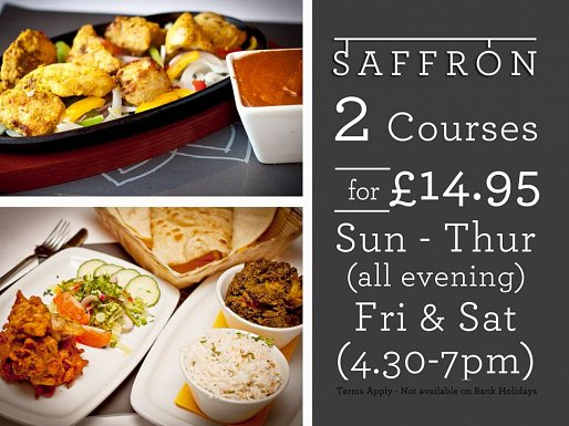 2 courses for £14.95