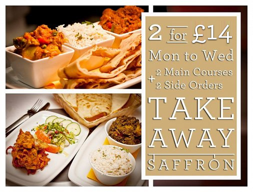 Takeaway Offer 2 for £14 Monday - Wednesday