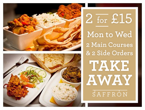 2 courses for £15 takeaway offer